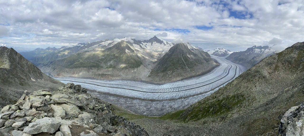 The Million Dollar View Aletsch Glacier