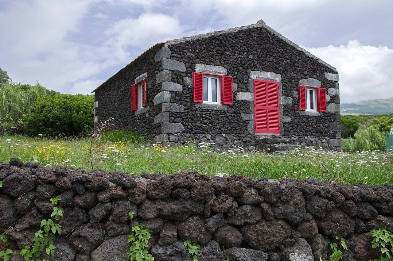 Typical house on the Azores
