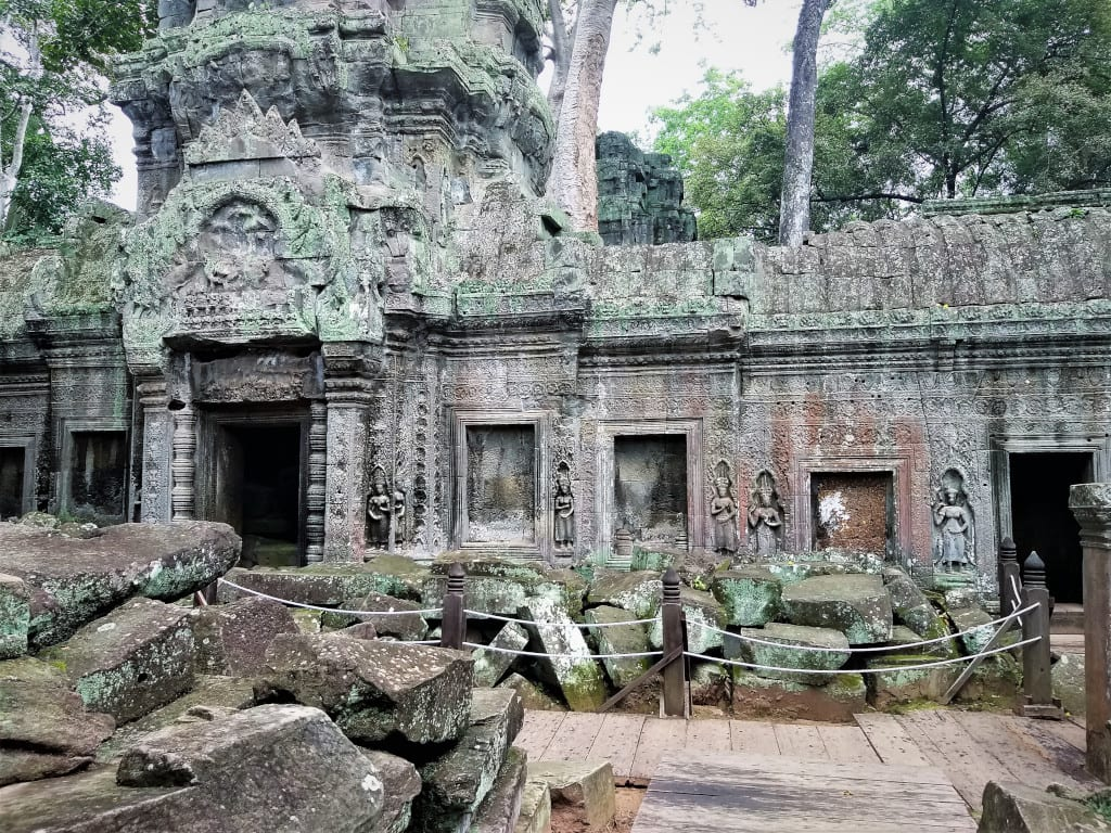 Ta Prohm might be roped off, but there are no tourists to disurb its calm.