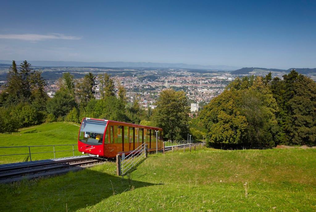 The Gurtenbähnli funicular to the Gurten