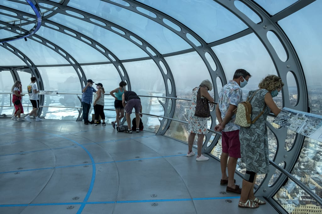 Taking the view from British Airways i360 Viewing Tower