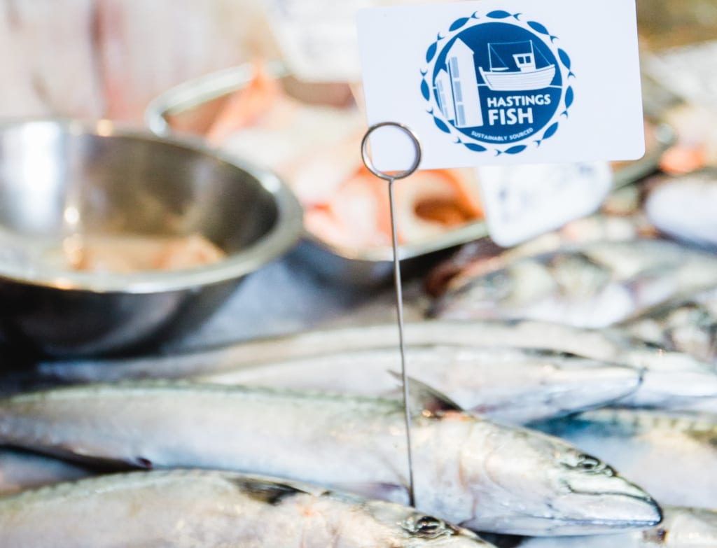 The Hastings fish brand means the fish is both local and sustainably caught