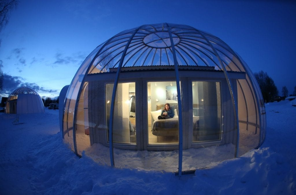 Stay in an Arctic Igloo Bubble