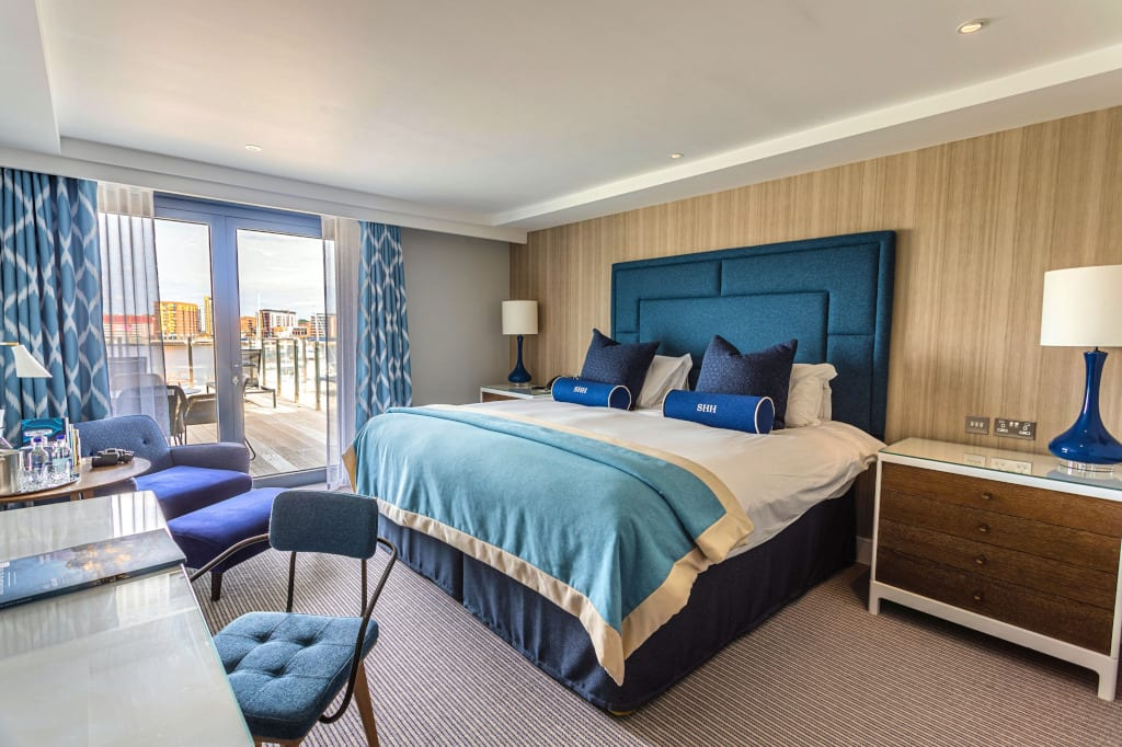 A suite at the Southampton Harbour Hotel