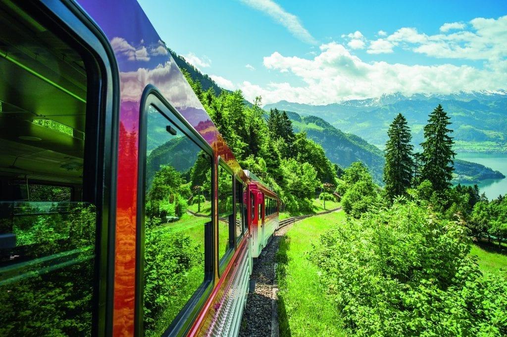 Rigi Bahn im Sommer, Rigi, Zentralschweiz