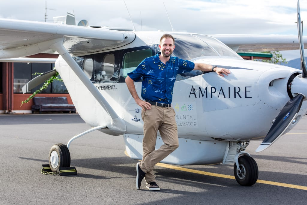 Ampaire founder and CEO Kevin Noertker