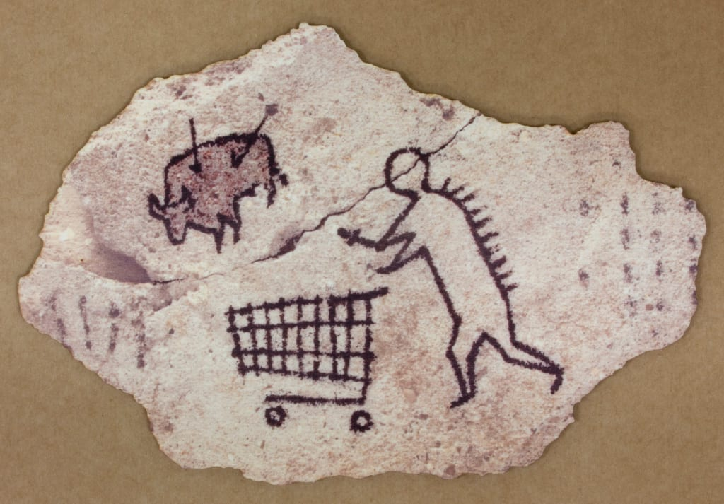 Banksy - Peckham Rock Postcard - Image courtesy of John Brandler