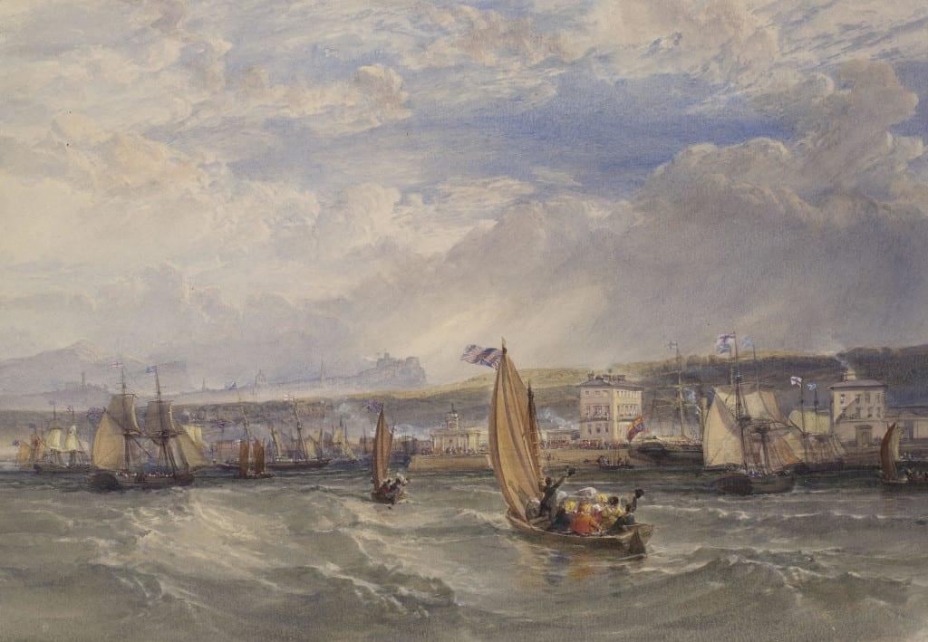 William Leighton Leitch, Queen Victoria landing at Granton Pier,1844