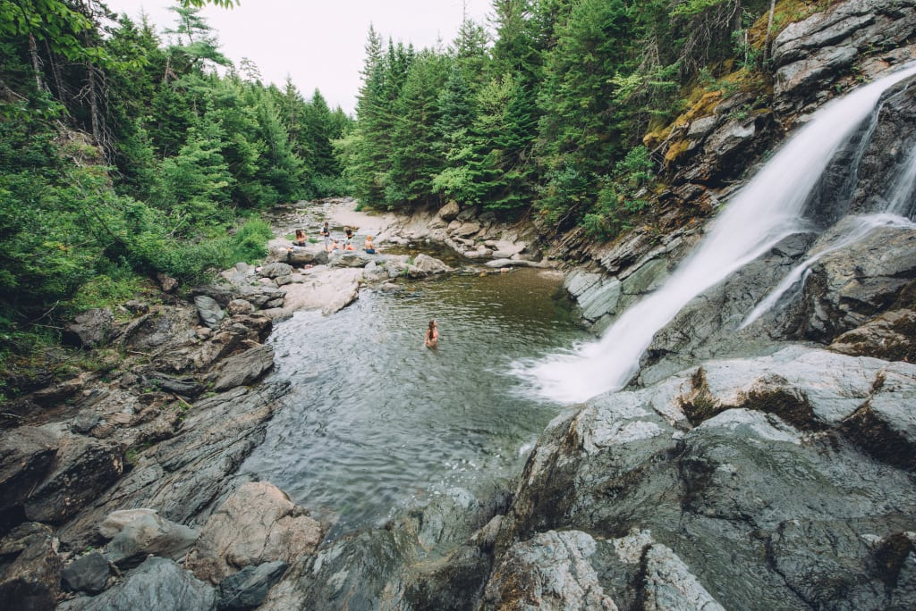 Fancy a dip in one of the wonderful waterfalls in Fundy National Park, New Brunswick?