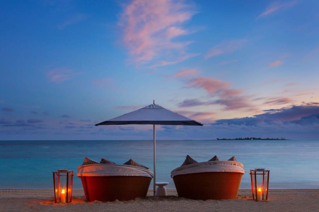 Rosewood Baha Mar- Beach and Loungers Evening