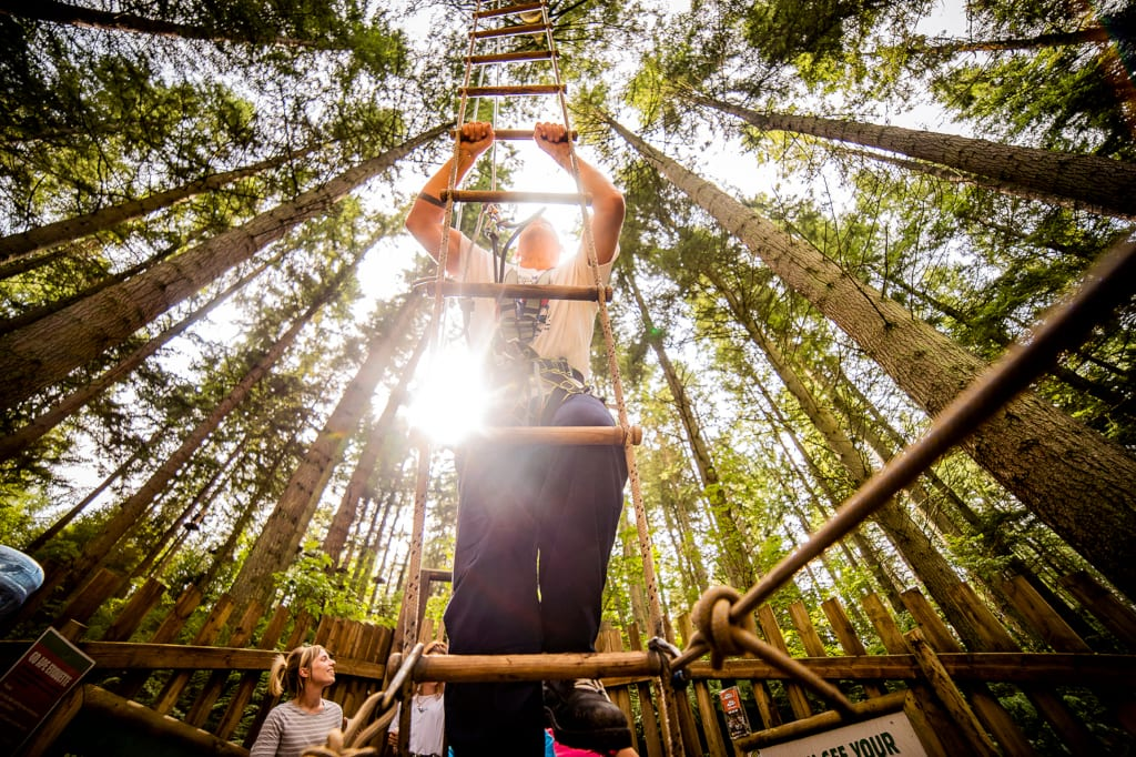 Go Ape, Rope Ladder. Credit Visit Coventry