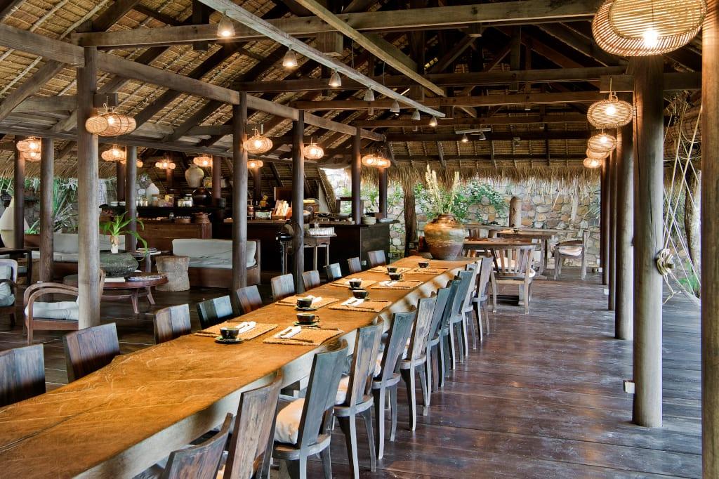The long table at Knai Bang Chatt