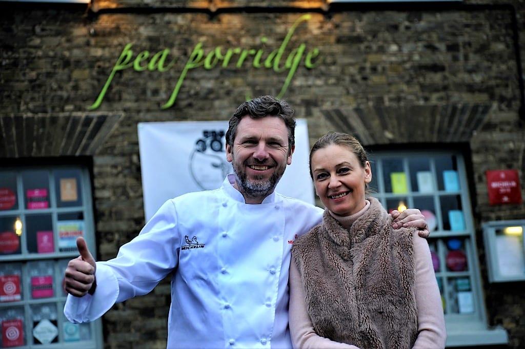 Michelin starred Pea Porridge Restaurant in Bury St Edmunds, credit Andy Abbott