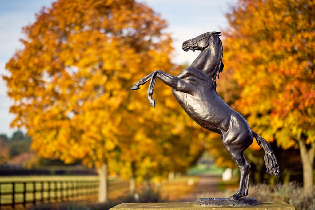 Stallion sculpture at The National Stud_PLEASE CREDIT Discover Newmarket