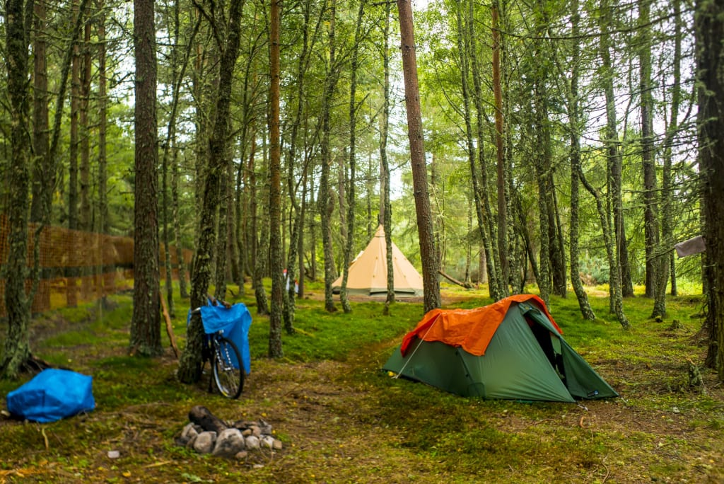 Almost Wild Camping sustainable UK Staycation