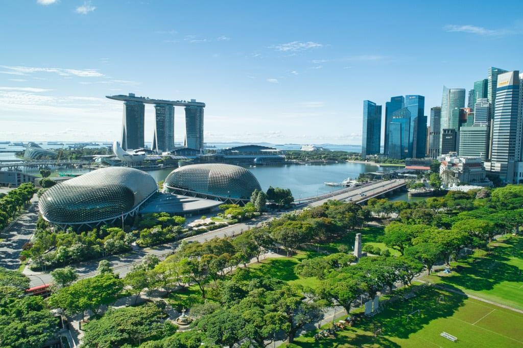 Marina Bay Sands and the Esplanade