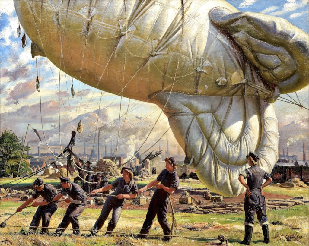 Challenging Convention A Balloon Site, Coventry, 1943 by Knight, Laura; Imperial War Museum, London, UK.