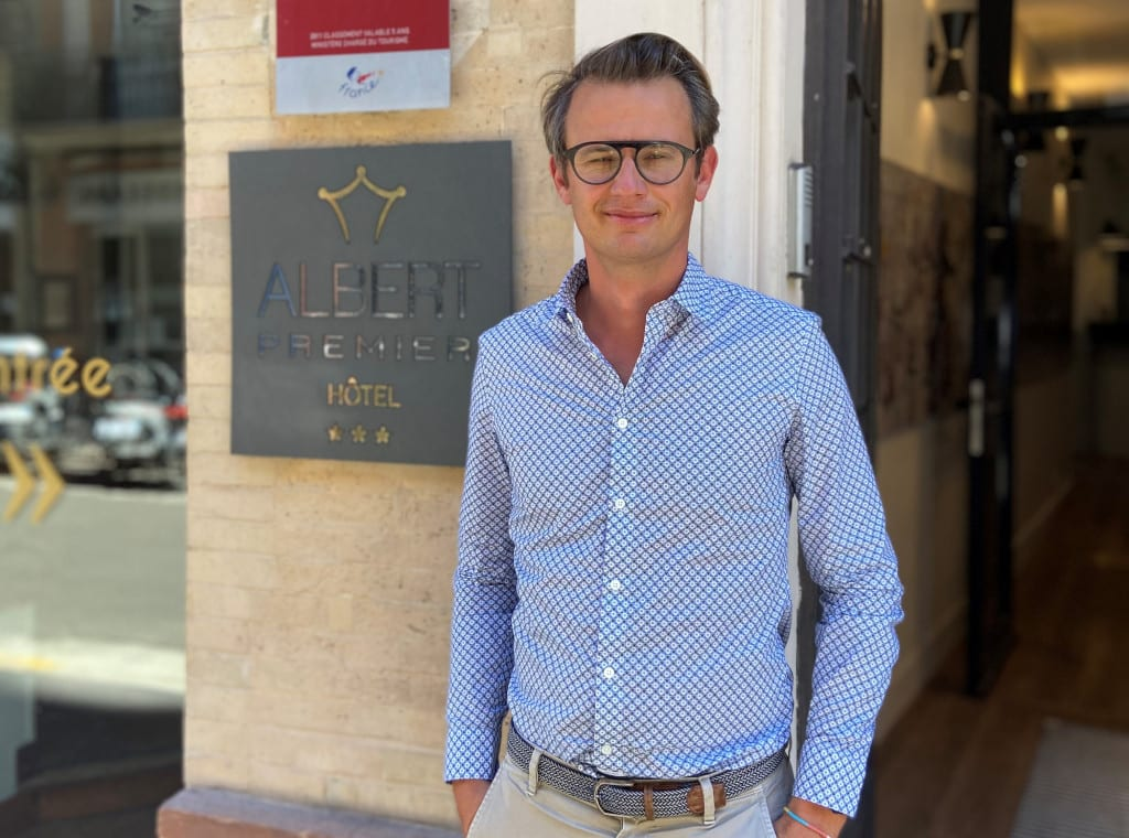 Emmanuel Hilaire the owner of boutique Hotel Albert 1ER to discuss slow tourism in Toulouse.