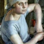 hallenging Convention Girl in Blue by Dod Procter