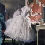 hallenging Convention The Ballet Shoe by Laura Knight