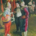 The Three Clowns, 1930 by Laura Knight, Laura; Leicester Museum & Art Gallery, Photo © Leicester Museums & Galleries.