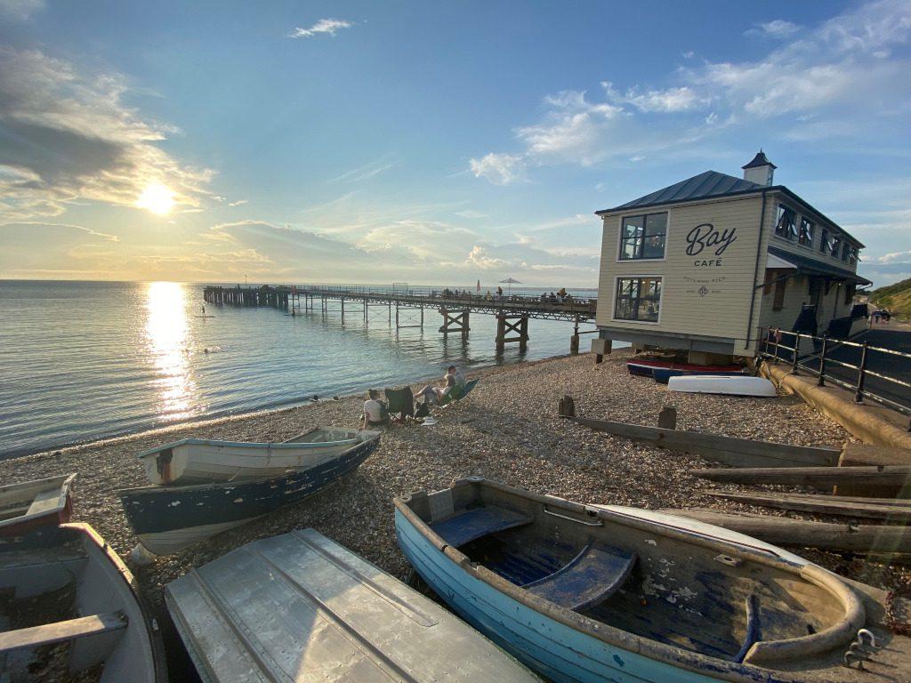 Looking towards Bay Cafe, Totland Pier