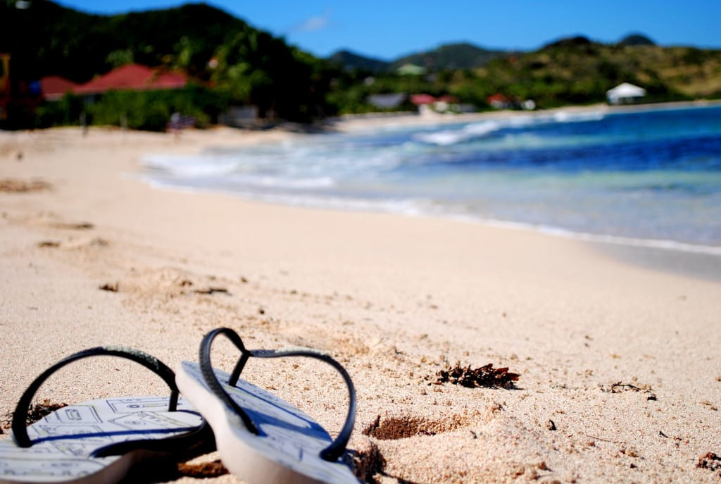 Essential footwear for backpackers - flip flops for the beach