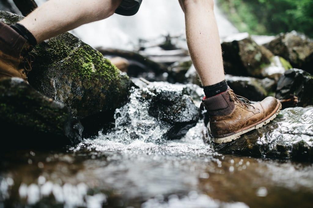 Footwear for backapackers