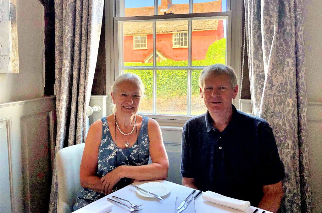 Eileen and Roger at their favourite table.