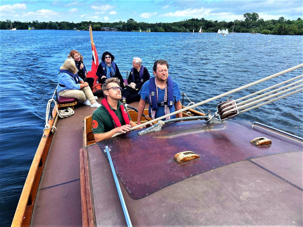 Sailing a Norfolk Wherry on the Norfolk Broads