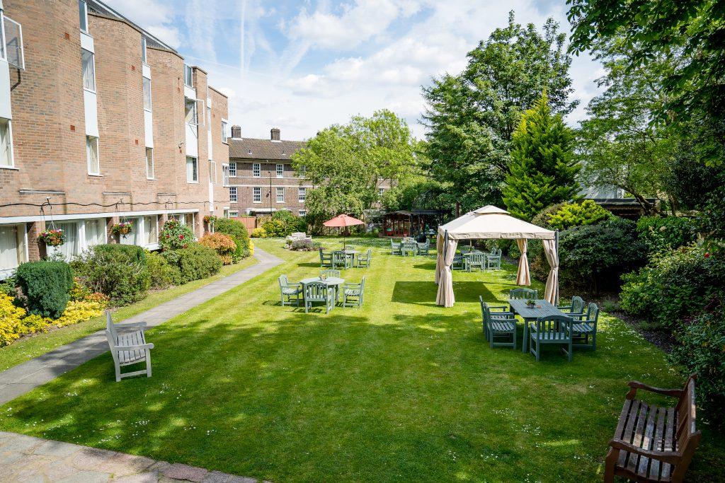 The Clarendon's spacious garden