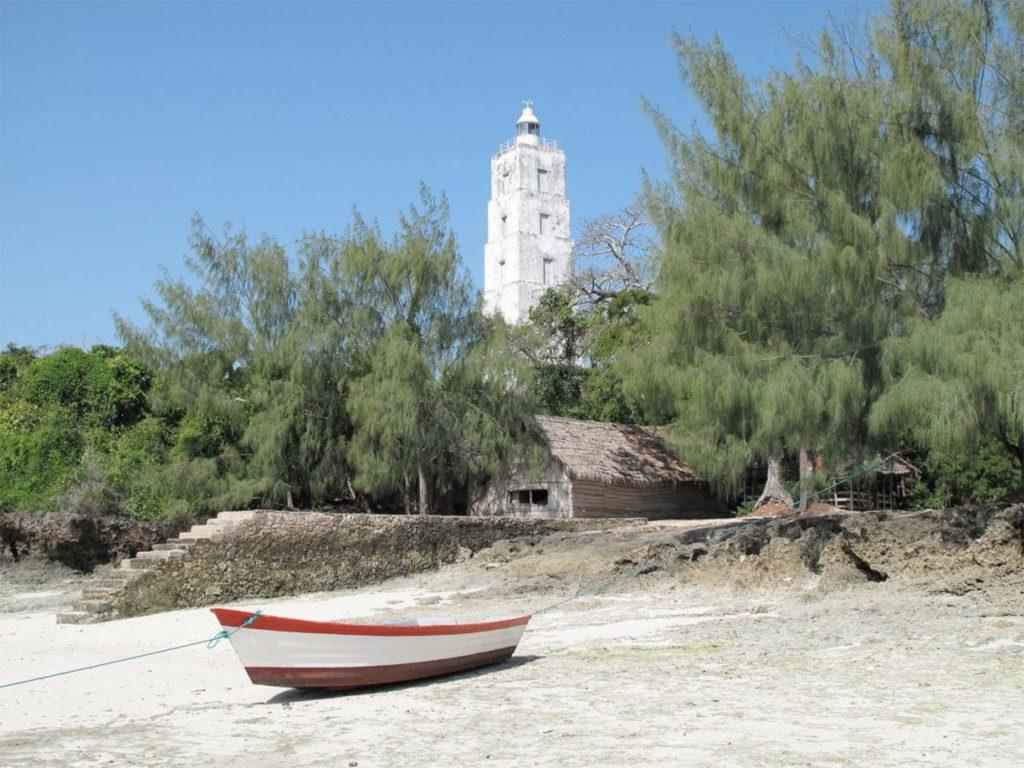 The lighthouse on Chumbe Island