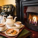 Enjoy a Welsh tea infront of the fire