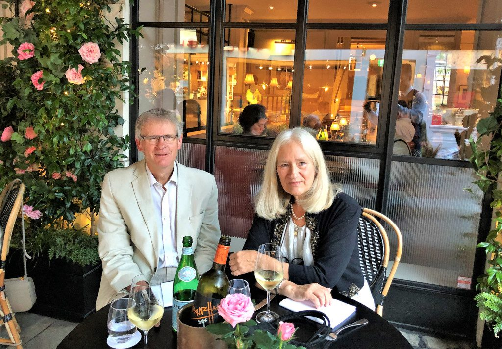 Dining at 108 Brasserie The Marylebone Hotel