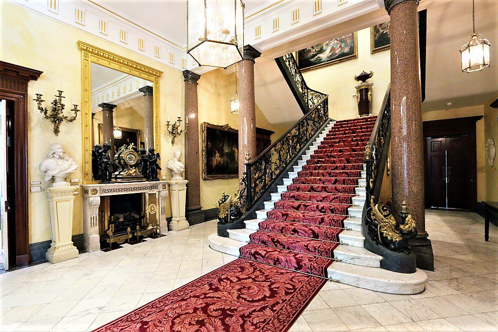 The grand sweeping staircase