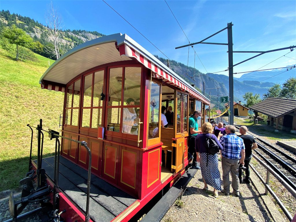 Stopping for water on the Munt Rigi railway line