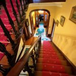 The magnificent staircase at Elm Grove Country House