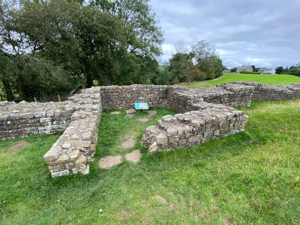 Remains of the Roman watchtower on Hadrian's Wall