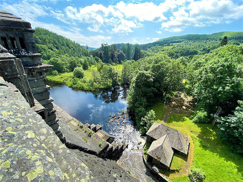 The view from Lake Vyrnwy dam, photo by Mark Bibby Jackson